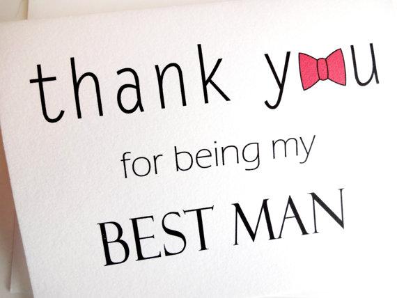 Wedding Thank You Cards best man
