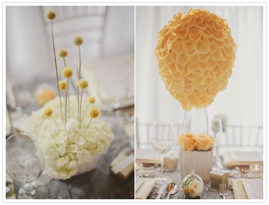 Hot air balloon wedding theme bravobride for Balloon nets for centerpieces