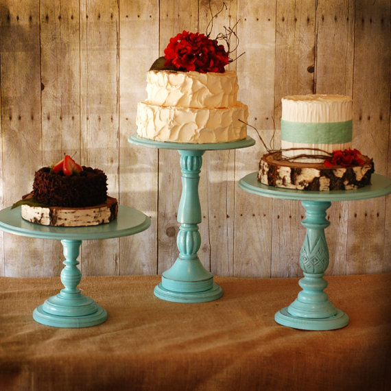 Fab Finds Pretty Rustic Wedding Cake Stands Bravobride