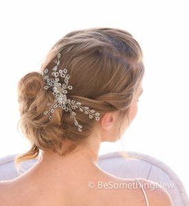Wedding Hair Comb, Wedding Headpiece,, Beaded, Bridal, Comb, Rhinestone, Crystal, Hair Accessory