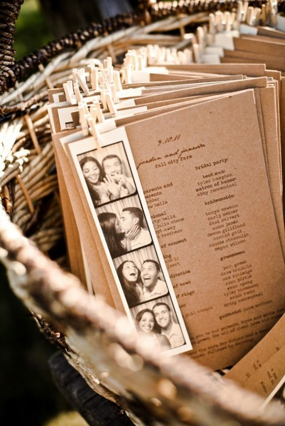 wedding program ideas bravobride