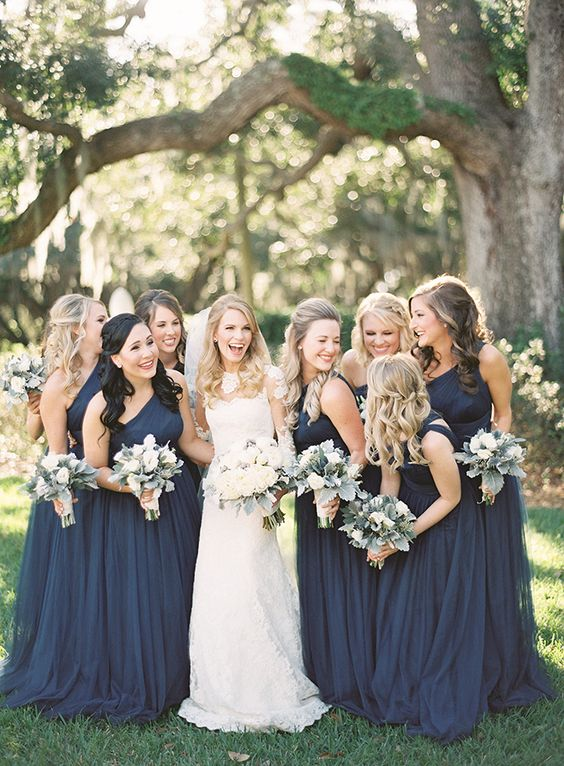 This Color Combo Has More Of Vibrant Feel While Still Providing A Rustic Vibe That Many Fall Weddings Have Putting Your Bridesmaids In Dark Maroon