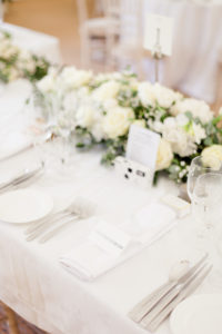 White, Wedding, Roses, Chargers