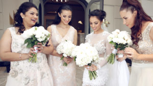 Bridesmaids, White, Flowers