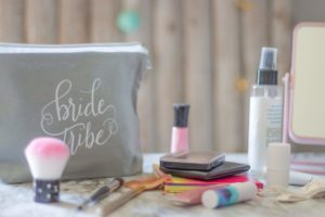 makeup, bag, gift, bridesmaids, wedding, love, bride tribe, love
