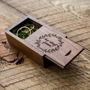 Forever, wedding ring box, flowers, amazon