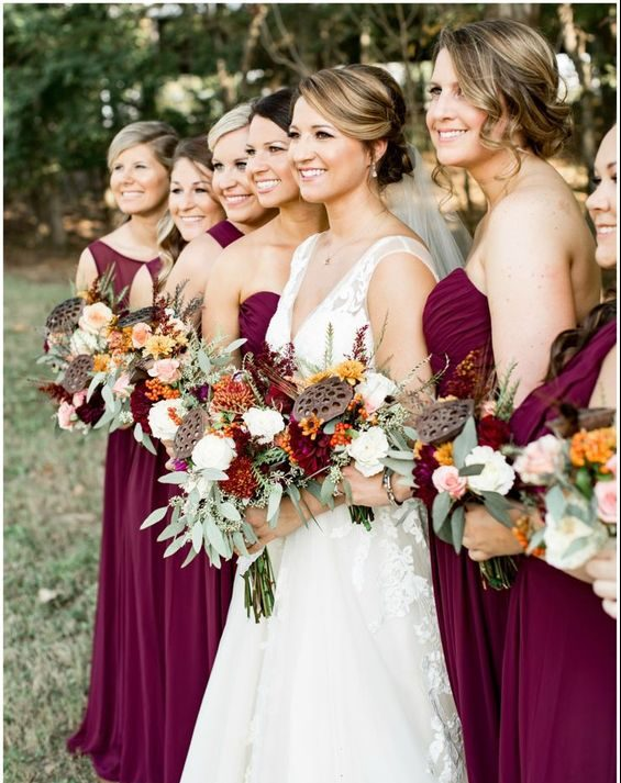 Fall 2017 wedding color schemes bravobride next is a color scheme that has a more soft and elegant yet rustic feel to it lite lavender dark lavender green and ivory junglespirit Images