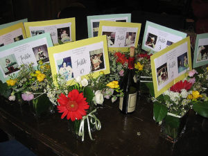 Personalized, centerpiece, table, wedding, reception,
