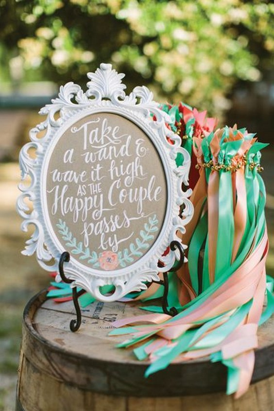 ribbon-wands-for-a-wedding-exit