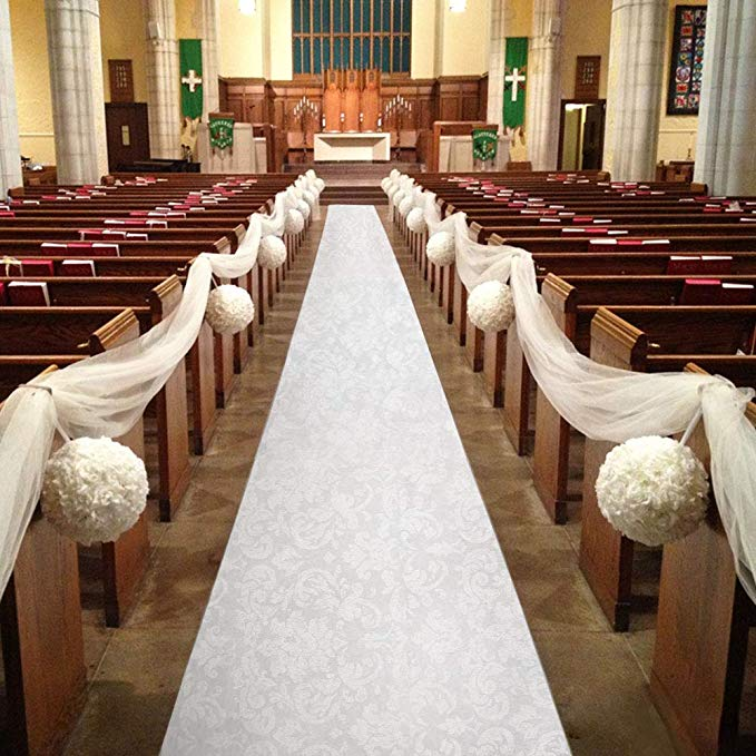 Wedding, aisle, runner, white, bride to be, style