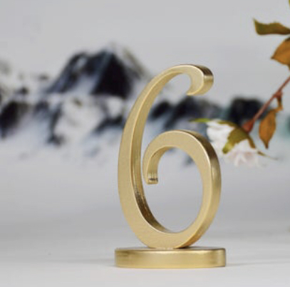 Gold Wooden Rustic Table Numbers Wedding Decorations Free Standing