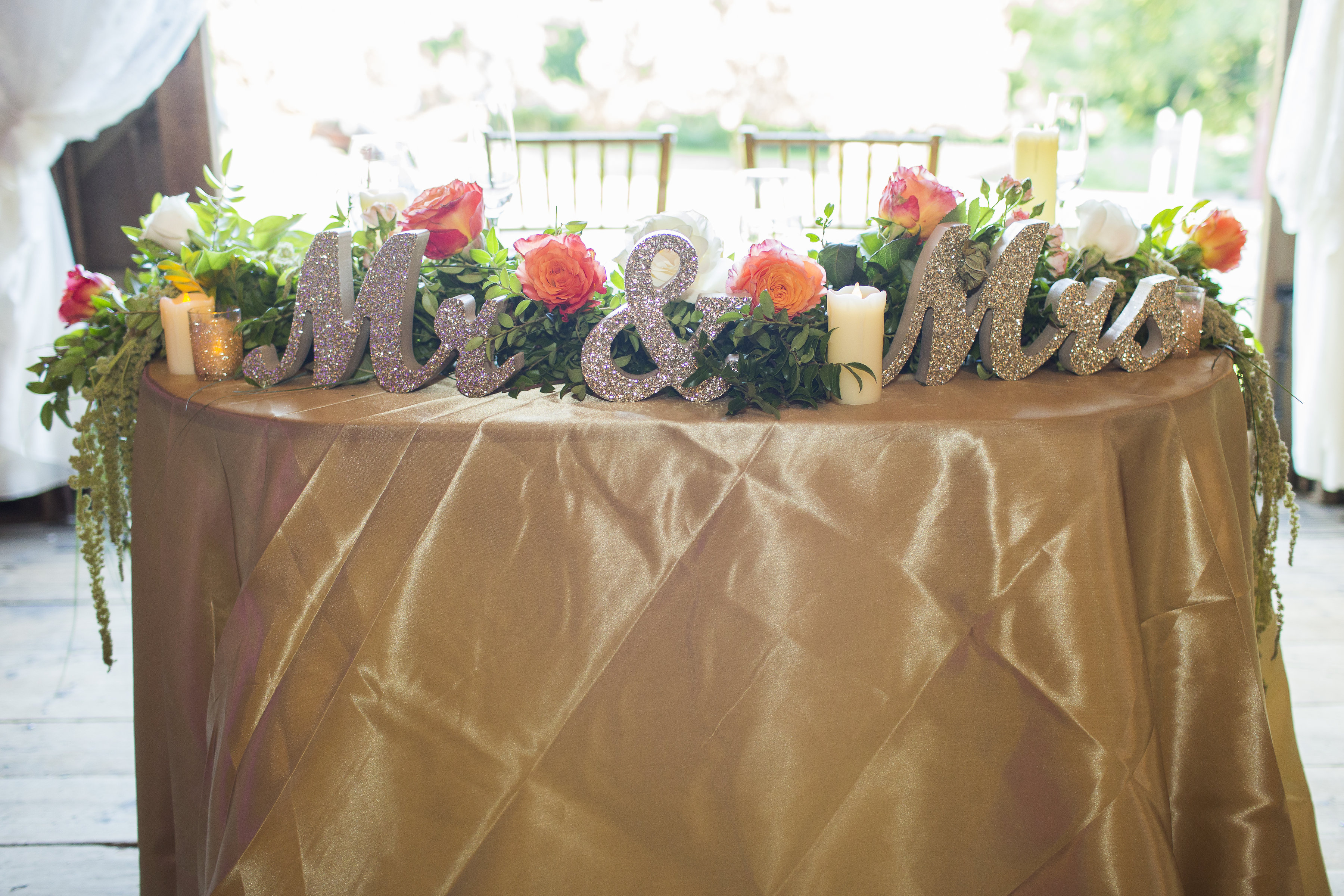 Mr. & Mrs. Sweetheart Table Sign