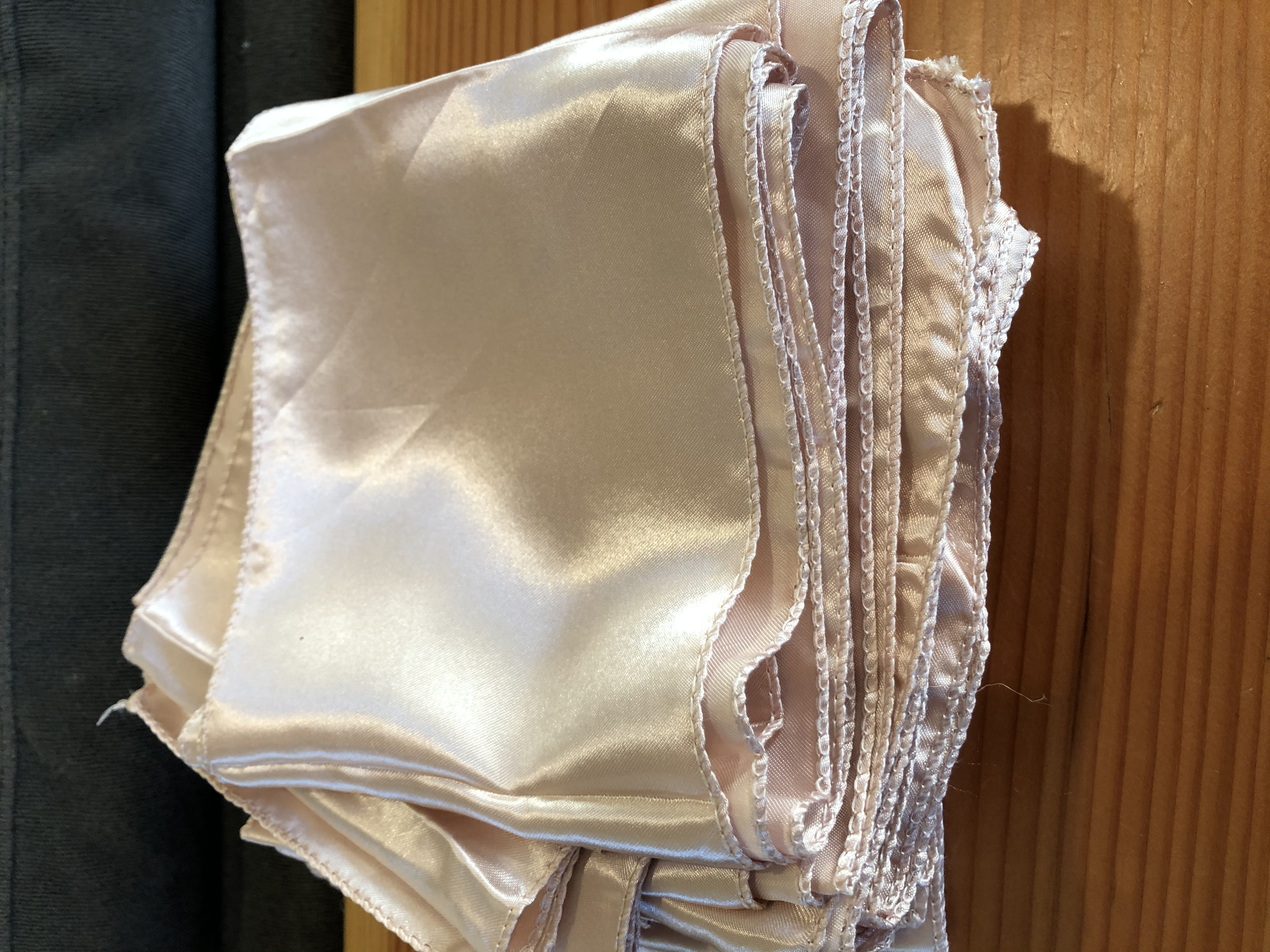 Blush Pink Satin Chair Sash