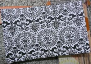 Black & White Damask Paper