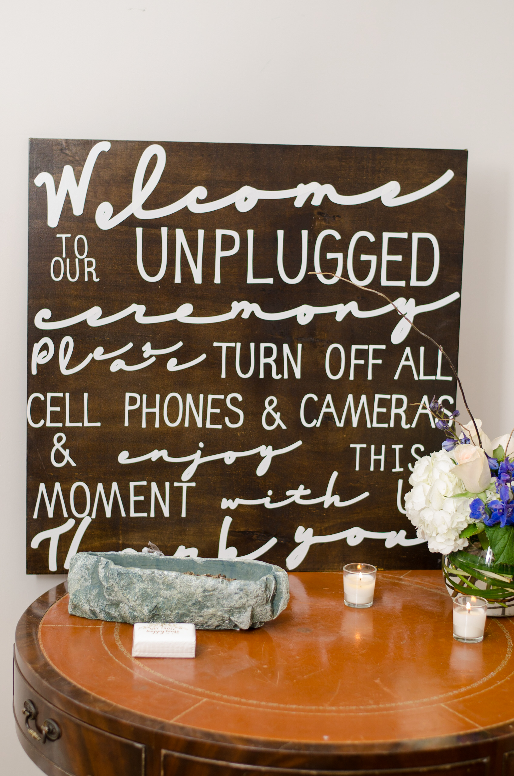 Ring Bearer And Phone Signs