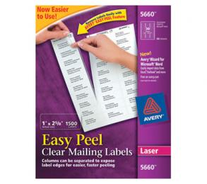 Avery Clear Easy Peel Labels-laser Printer