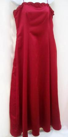 Betsy & Adam By Jaslene Red, Size 14 Gown