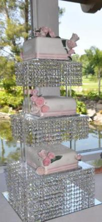 Tiered Crystal Cake Stand ~ lots of Crystals!