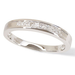 1/4ctw White Gold Princess Cut Channel Dia Band