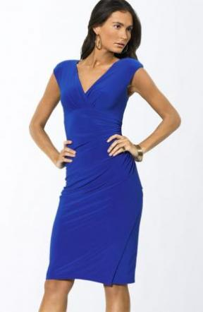 Ralph Lauren V-neck Blue Dress