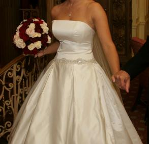 Designer Judd Waddell Satin Wedding Gown
