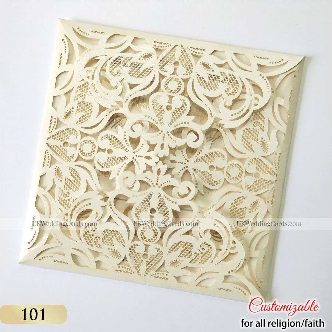Ivory Laser Cut Invitation