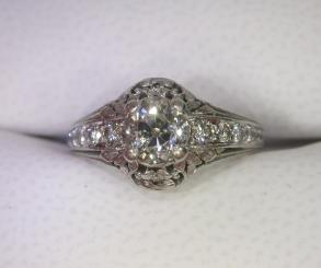 Vancraeynest Platinum Diamond Engagement Ring