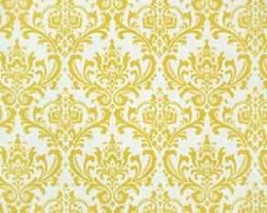 Yellow Damask Aisle Runner