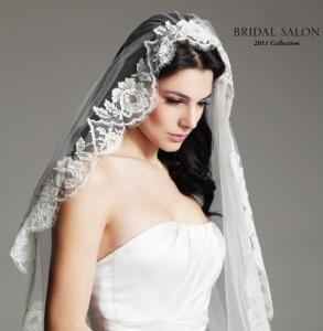 French Alencon Bridal Veil