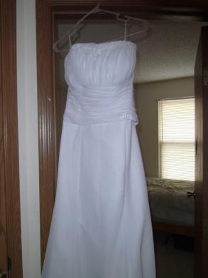 - Brand New,without Tags,never Worn,white Strapless Dress