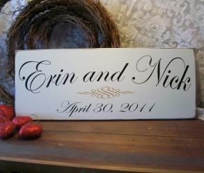 Personalized Wedding Sign Wood Bride and Groom