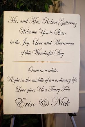 Custom Wedding Reception Welcome Wood Sign