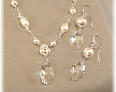 Trinity Pearl Necklace And Earring Set