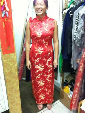 Qipao/Cheongsam - Red Chinese Traditional Wedding Dress Qipao / Cheongsam