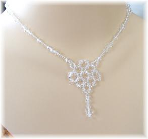 Clear Crystal Wedding Necklace