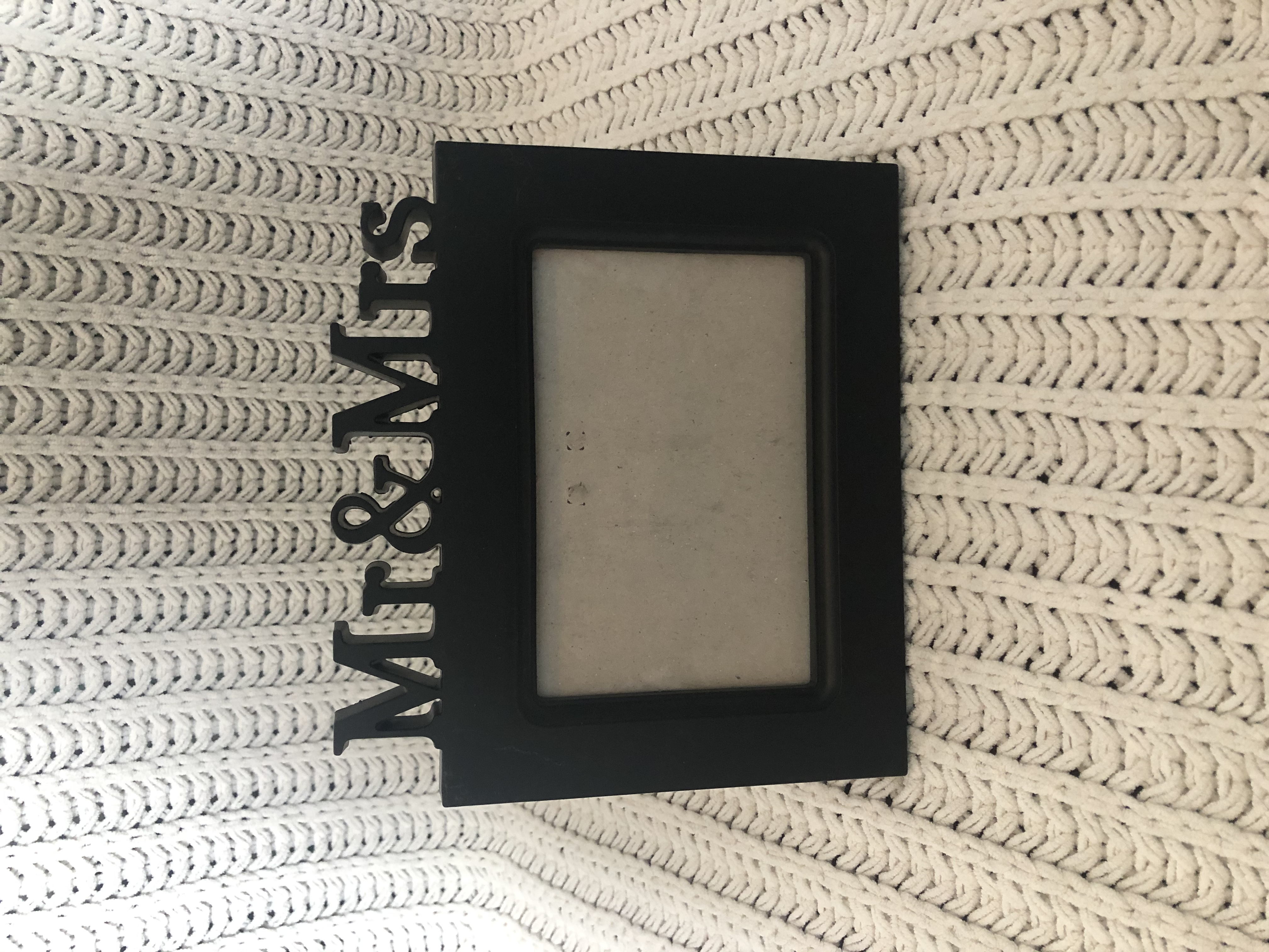 Mr. & Mrs. Black Photo Frames