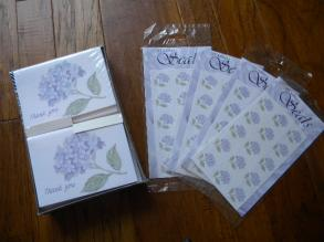 Purple Hydrangea Thank You Cards And Stickers