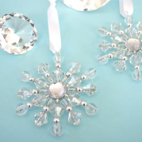 new beaded snowflake ornaments lot of 50 favors