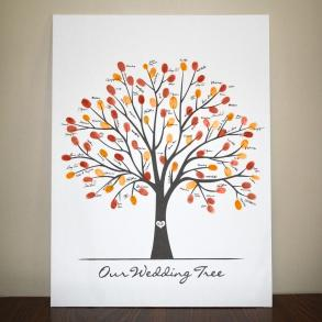 Large Canvas Wedding Tree-fall