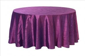 Pintuck 120 Inch Round Tablecloths