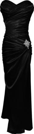 Moonlit Bridals - New Black Strapless  Bandage Gown Bridesmaid  Prom Formal Crystal Pin