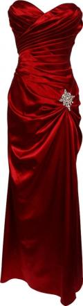 Moonlit Bridals - New Red Strapless Bandage Gown Bridesmaid Prom Formal Crystal Pin