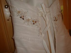 Imperial Gowns - Strapless Organza Wedding Gown Size 6