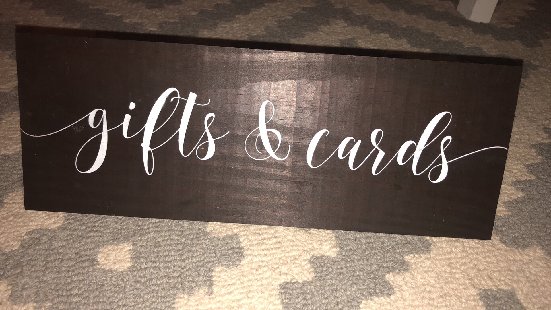 Gifts And Cards Wooden Wedding Sign