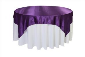 Satin Table Overlays 72 x 72