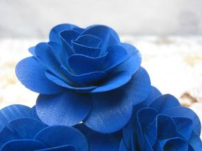 Sapphire Blue Wooden Roses