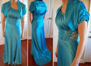 Ella - Cinderella Dress With Jacket (turquoise)
