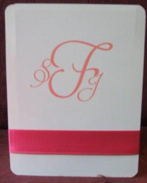100 Accordian Style Wedding Program With Ribbon Accent
