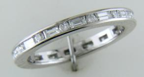 Designer (Tiffany) Style Diamond Channel Set Eternity Ring