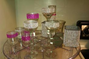 Bling Rhinestone Candle Holders And Vases